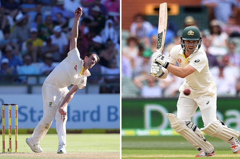 FILE: Australian fast bowler Pat Cummins (left) and bastman Travis Head. Photos: Reuters