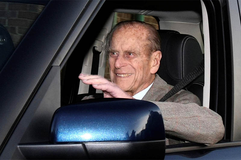 File: Britain's Prince Philip is driven away from Papworth Hospital in southern England December 27, 2011. Photo: Reuters
