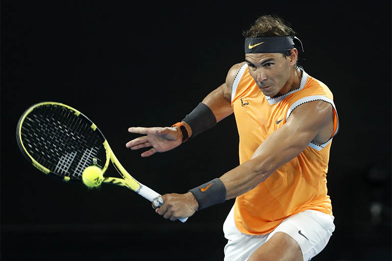 Spain's Rafael Nadal in action during the match against Frances Tiafoe of the US. Photo: Reuters
