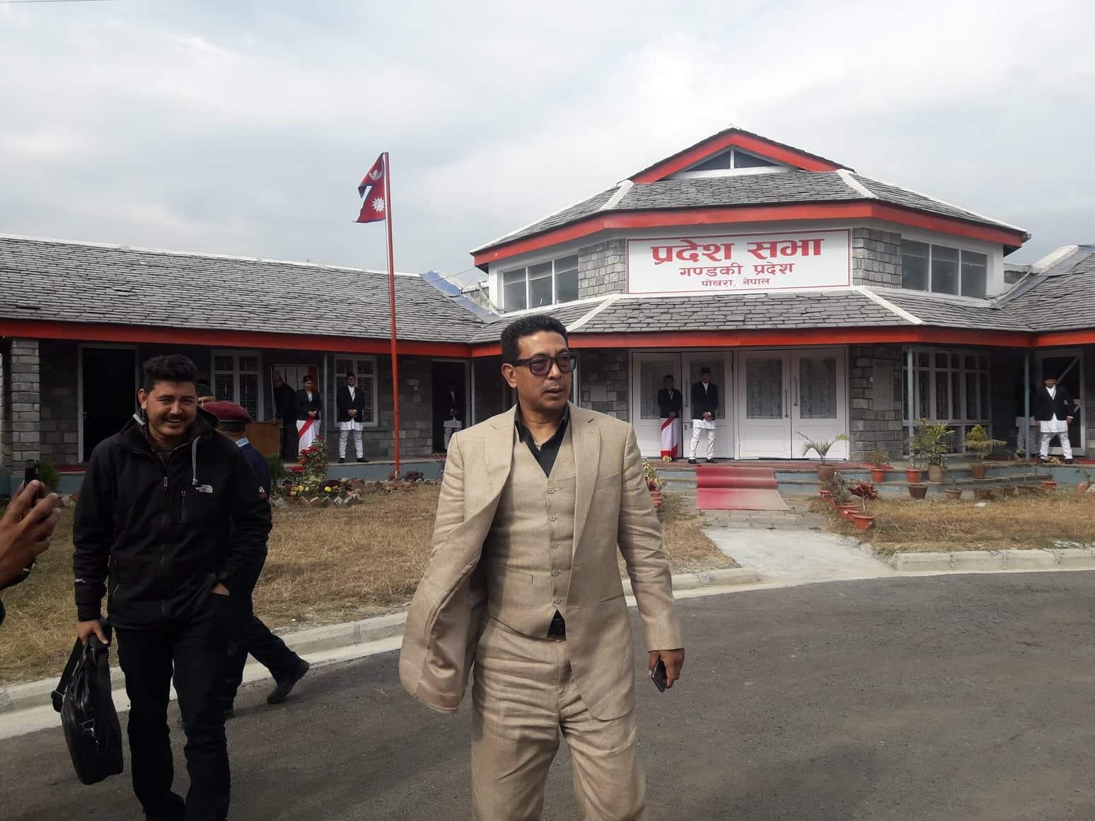 FILE - Rajiv Gurung, alias Deepak Manange, at the premises of Gandaki Provincial Assembly, on Monday, January 07, 2019. Photo: Bharat Koirala/THT