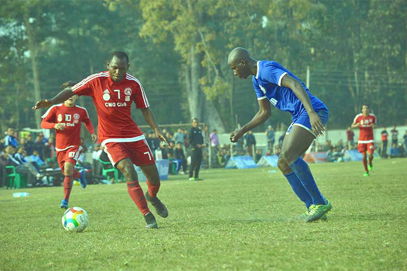 Players is action during Simara Gold Cup. Photo: Puspa Raj Khatiwada