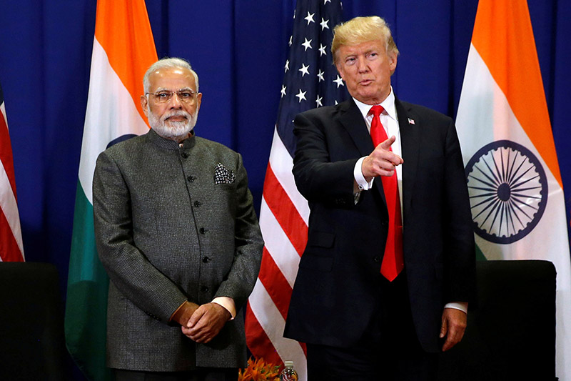 FILE - US President Donald Trump holds a bilateral meeting with India's Prime Minister Narendra Modi alongside the ASEAN Summit in Manila, Philippines, on November 13, 2017. Photo: REUTERS