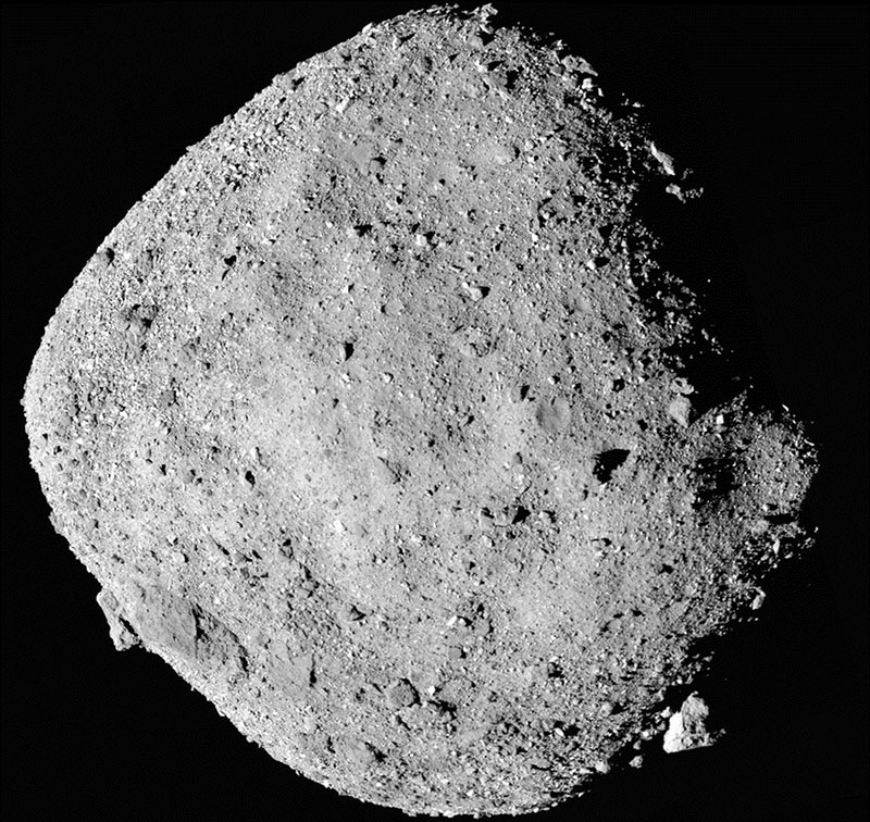 FILE: This file mosaic image composed of 12 PolyCam images colleced on Dec 2, 2018 and provided by NASA shows the asteroid Bennu. Courtesy: AP