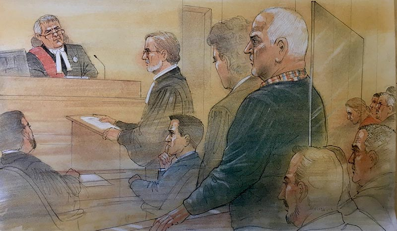 Bruce McArthur attends Superior court, where he pleaded guilty to the murders of eight men who had disappeared over several years, in a sketch made by a courtroom artist in Toronto, Ontario, Canada January 29, 2019. Photo: Reuters