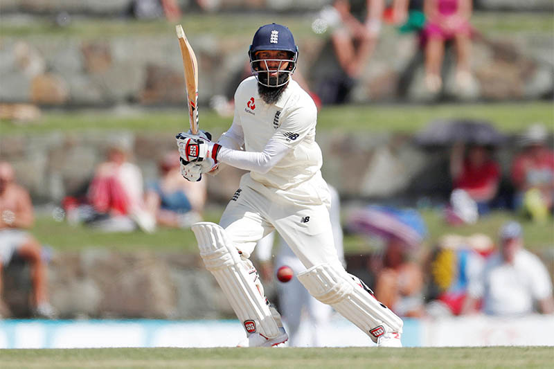 England's Moeen Ali in action. Photo: Reuters