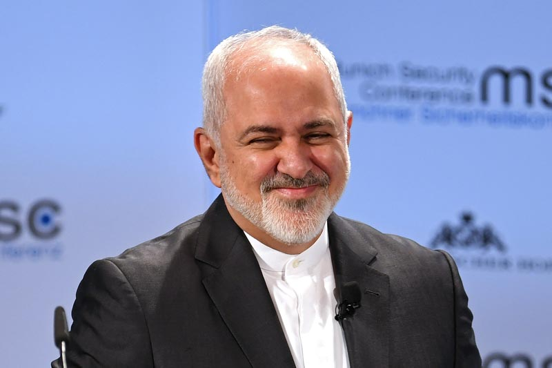 Zarif smiles during the annual Munich Security Conference in Munich, Germany February 17, 2019. Photo: Reuters/File