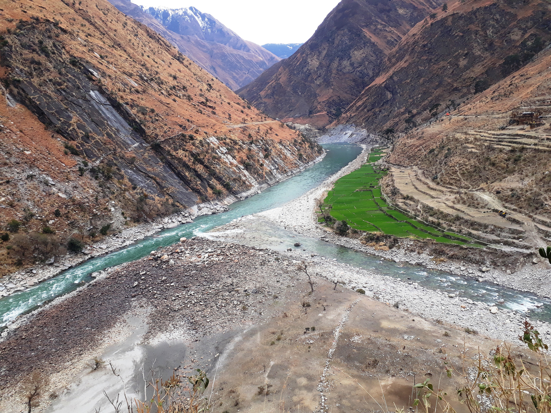 The longest river of Nepal- Karnali River flows through the scenic Kawadi Region, which lies on the axis of districts of Bajura, Humla and Mugu in western Nepal. Photo:RSS