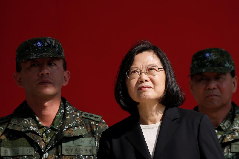 FILE: Taiwan's President Tsai Ing-wen visits the 6th Army Command, ahead of Lunar New Year, in Taoyuan, Taiwan January 25, 2019.Photo: Reuters