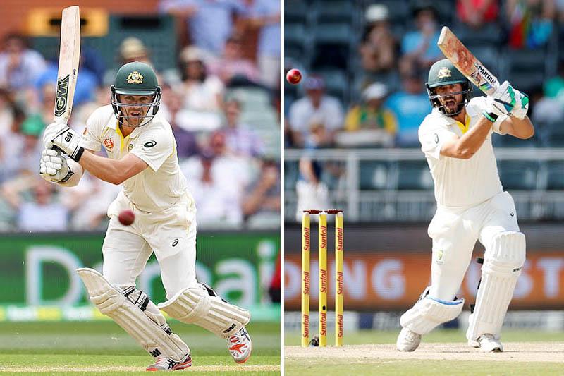 File: Australian batsmen Travis Head (left) and Joe Burns. Photos: Reuters