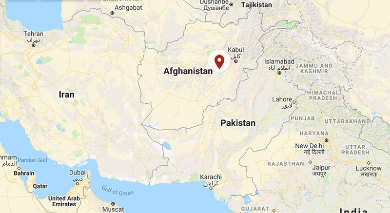 Afganistan. Photo: Google Maps