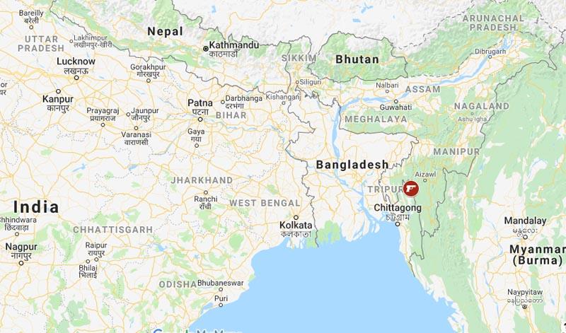 Bangladesh gun attack. Photo: Google Maps