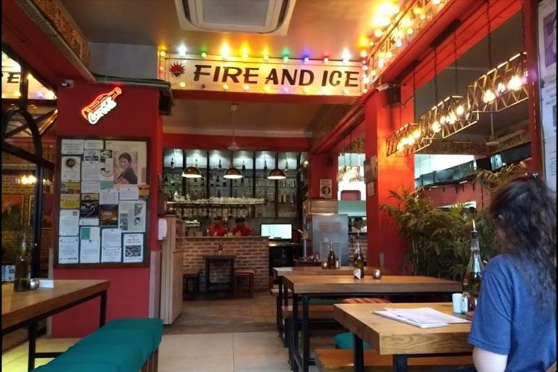 This 2018 image shows the Fire and Ice restaurant in Thamel, Kathmandu. Photo: Photo courtesy: Stephen Simon