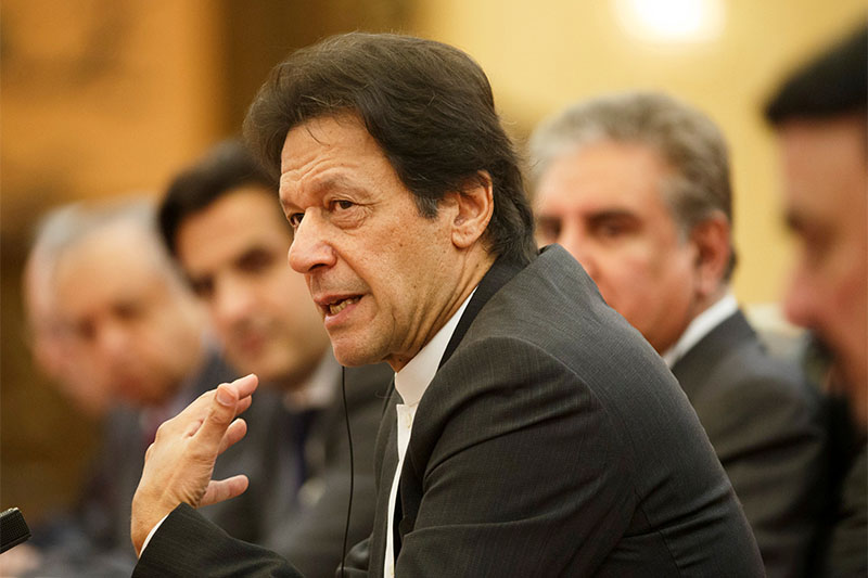 FILE PHOTO: Pakistani Prime Minister Imran Khan attends talks at the Great Hall of the People in Beijing, November 2, 2018. Photo: Reuters