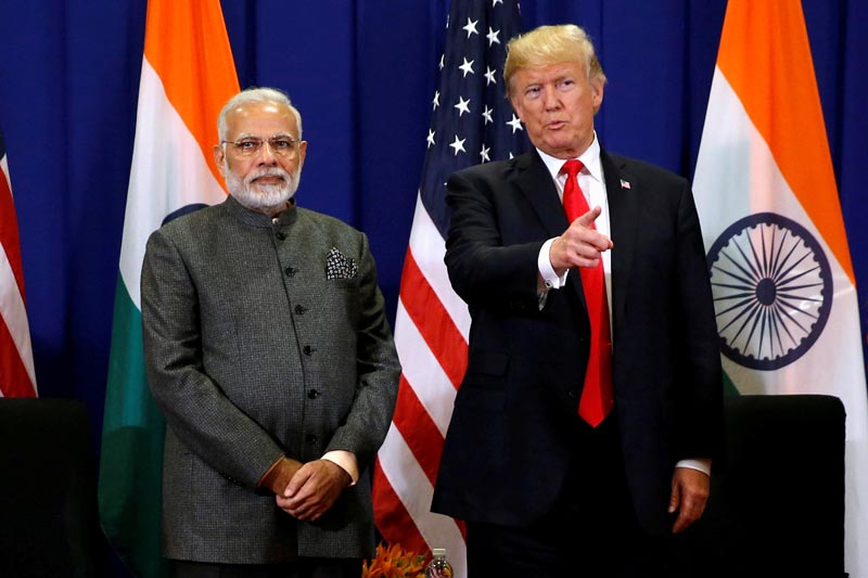 FILE: US President Donald Trump holds a bilateral meeting with India's Prime Minister Narendra Modi alongside the ASEAN Summit in Manila, Philippines November 13, 2017.Photo: Reuters/file