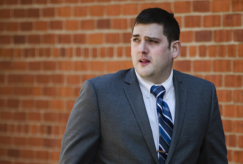 FILE -  In this March 12, 2019 file photo, former East Pittsburgh police officer Michael Rosfeld, charged with homicide in the shooting death of Antwon Rose II, walks to the Dauphin County Courthouse in Harrisburg, Pennsylvania. On the fourth day of the trial in Pittsburgh, Friday, March 22, 2019, Rosfeld was acquitted of all counts in the death of Rose. Photo: AP