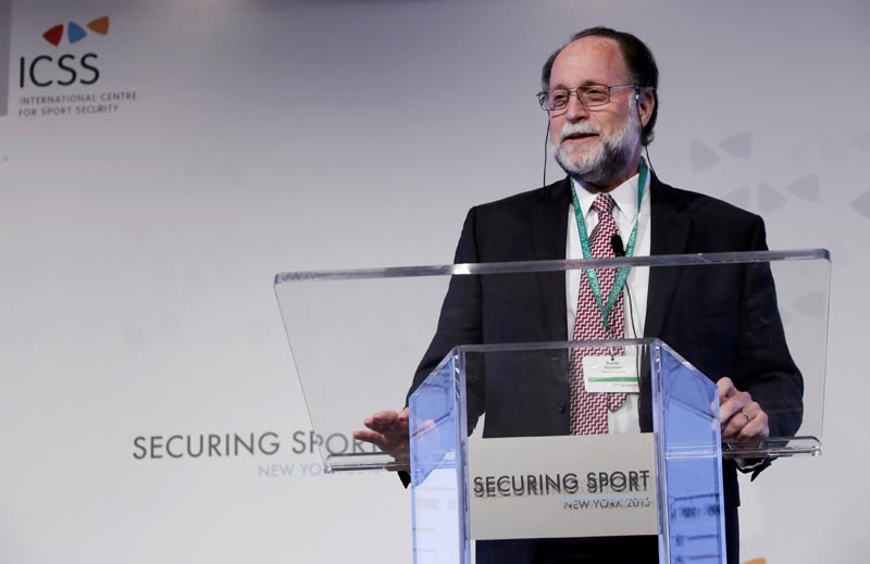 FILE: Ricardo Hausmann from Harvard University speaks on Day 1 of Securing Sport 2015 - the annual conference of the International Centre for Sports Security (ICSS). Photo: Andrew Kelly for ICSS via Reuters/file