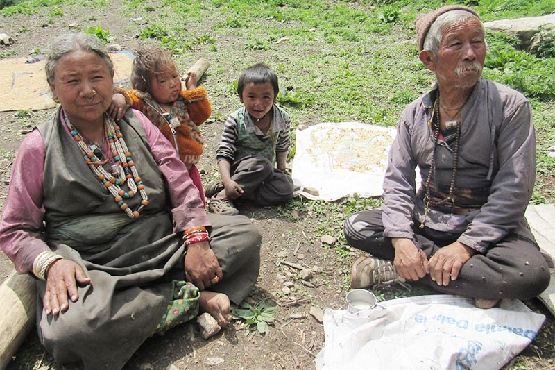 Locals of Gumba village in Himali Rural Municipality, Bajura, on Thursday, April 18, 2019. They donu2019t have citizenship certificate as they do not know why they should obtain it.