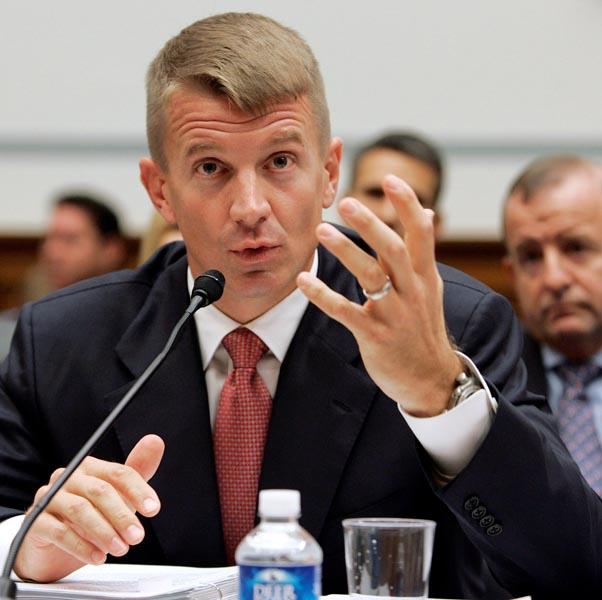 FILE: Erik Prince, founder of the Blackwater security firm, testifies before a committee of the US Congress about security contracting in Iraq and Afghanistan on Capitol Hill in Washington, October 2, 2007. Photo: Reuters/file