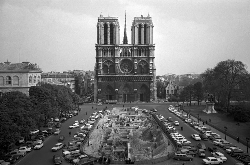 This photo shows the Notre Dame Cathedral in Paris, dated April 18, 1967. Photo: AP/File