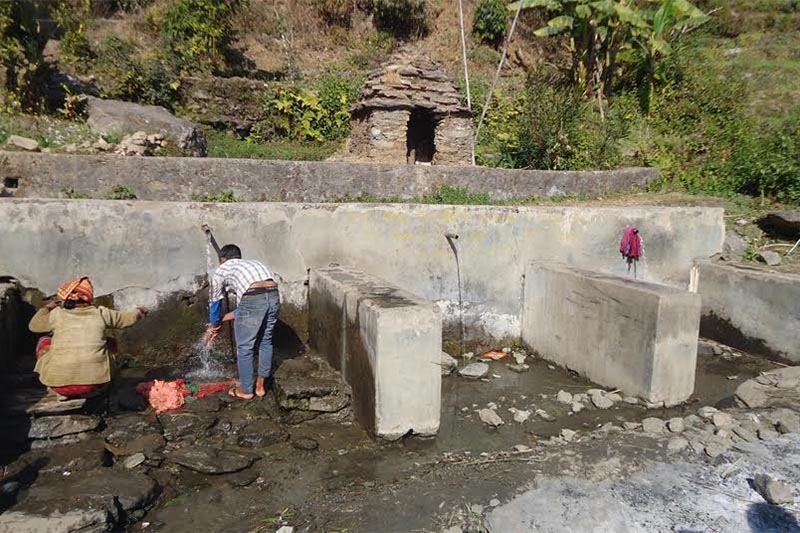 FILE - Separate taps constructed for Dalits and non-Dalits in Budhiganga Municipality, Bajura. Photo: THT