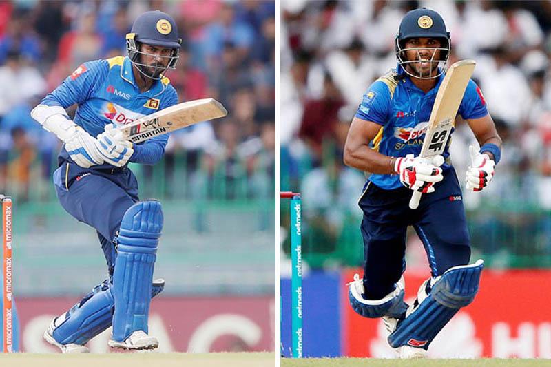 Sri Lankan batsmen Upul Tharanga (left) and Dinesh Chandimal. Photo: Reuters