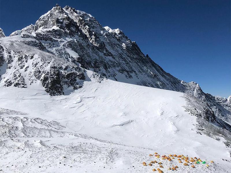 File Photo: Camp IV, Mount Everest. Photo Courtesy: Garrett Madison