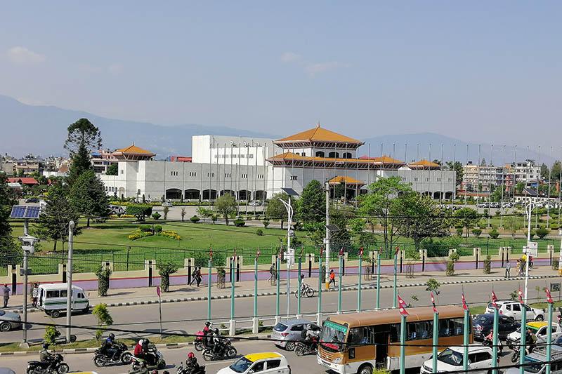 A view of federal parliament in New Baneshwor, Kathmandu, on Monday, May 13, 2019. Photo: Shuvam Dhungana