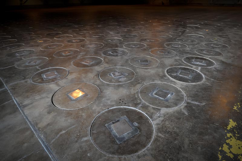 FILE: In this November 20, 2013 file photo, radioactive waste, sealed in large stainless steel canisters, is stored under five feet of concrete in a storage building at the Savannah River Site near Aiken, SC US. Photo: AP/file
