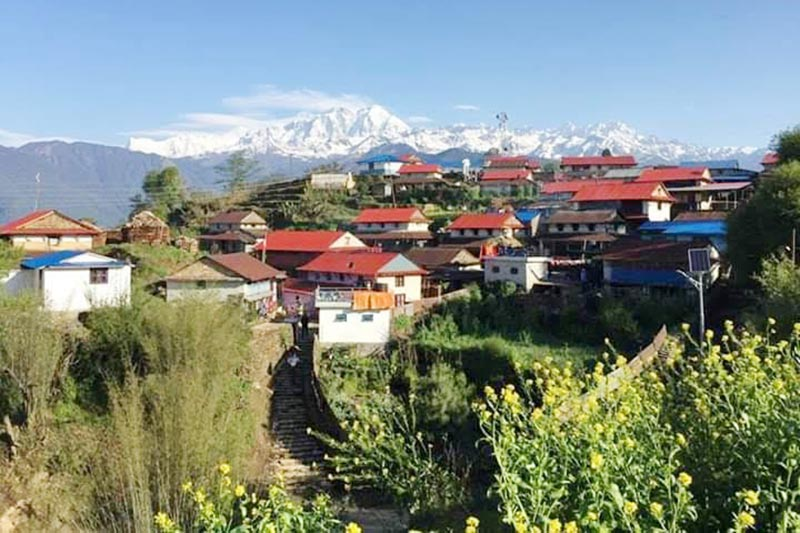 A view of Ghalegaun in Lamjung, on Wednesday, May 1, 2019. Photo: THT