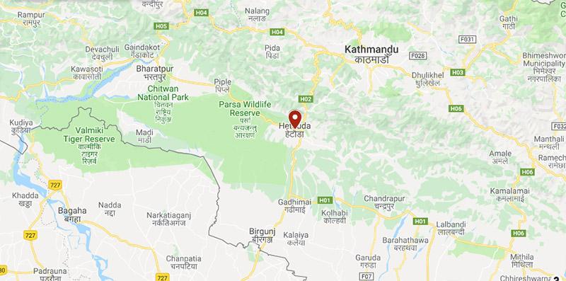 Hetauda, Makawanpur. Image: Google Maps