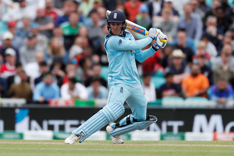 England's Jason Roy in action. Photo: Reuters