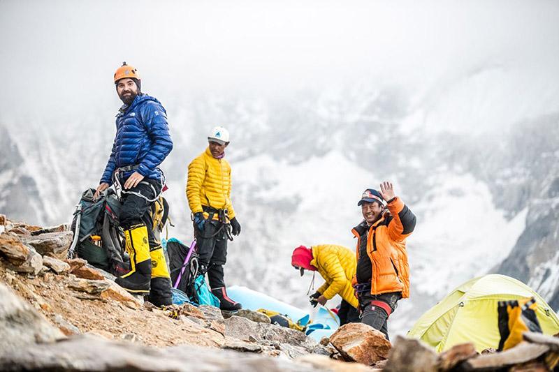 Mt Pumori summiteers. Photo Courtesy: Samir Jung Thapa