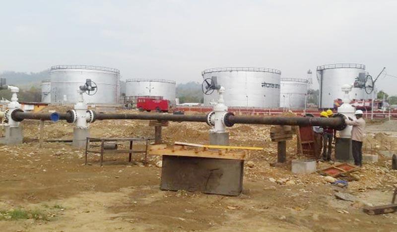 A view of the Motihari-Amlekhgunj depot of Nepal Oil Corporation, in Bara, on Tuesday, April 30, 2019. Photo: Puspa Khatiwada/THT