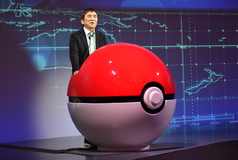 Tsunekazu Ishihara, chief executive of the Pokemon Company, speaks at a news conference in Tokyo, Japan May 29, 2019. Photo: Reuters