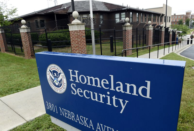 FILE - This June 5, 2015 file photo shows the Homeland Security Department headquarters in northwest Washington. Homeland Security officials considered arresting migrant families around the country who had final deportation orders and removing them from the US in a flashy show of force, according to two Homeland Security officials and two people familiar with the proposal. Photo: AP