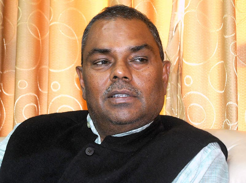 Interview with Deputy Prime Minister and Minister of Health and Population Upendra Yadav, in Pulchowk, Lalitpur, on Saturday, May 11, 2o19.  Photo: Balkrishna Thapa Chhetri/THT