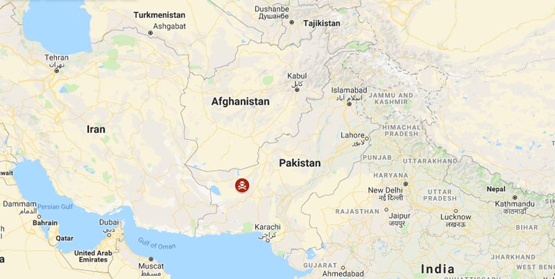 Pakistan taliban attack. Photo: Google Maps