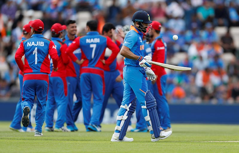 India's Virat Kohli during the ICC Cricket World Cup match between India and Afghanistan, at The Ageas Bowl, in Southampton, Britain, on June 22, 2019. Photo: Action Images via Reuters
