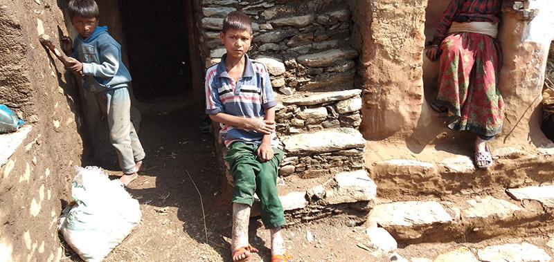 FILE - Govinda Sarki, 15, of Kolti, Budhinanda Municipality-2, Bajura district. Photo: Prakash Singh/THT