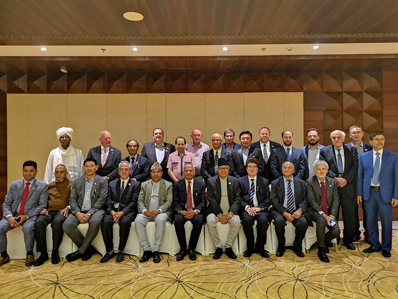 Honorary consul generals and consuls of Nepal pose for photograph. Photo: THT