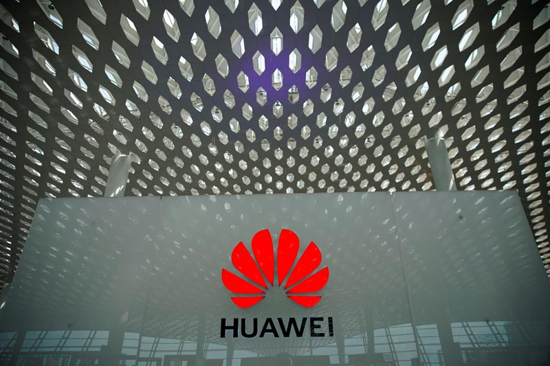 FILE - A Huawei company logo is seen at the Shenzhen International Airport in Shenzhen, Guangdong province, China June 17, 2019. Photo: Reuters