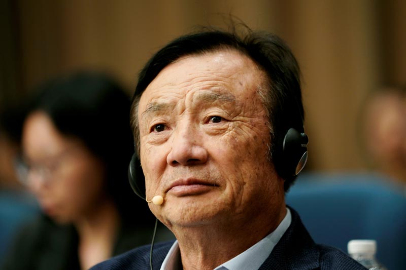 Huawei founder Ren Zhengfei attends a panel discussion at the company headquarters in Shenzhen, Guangdong province, China June 17, 2019. Photo: Reuters