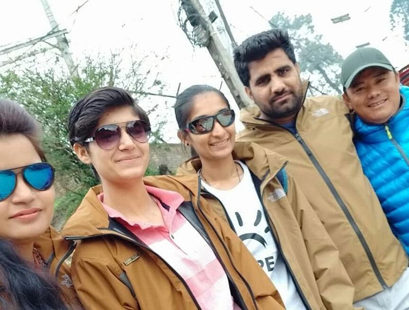 (from left) Vikas Rana, Shobha Banwala, Mohini Nehra, Ankush Kasana, and Dorchi Sherpa. Photo Courtesy: Facebook