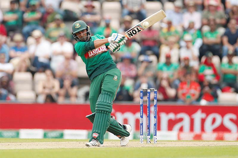 Bangladesh's Mahmudullah in action. Photo: Reuters
