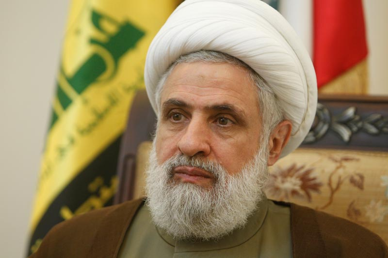 Lebanon's Hezbollah deputy leader Sheikh Naim Qassem is pictured during an interview with Reuters at his office in Beirut's suburbs, Lebanon August 3, 2016. Photo: Reuters/File