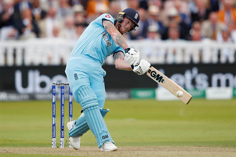 England's Ben Stokes in action. Photo: Reuters