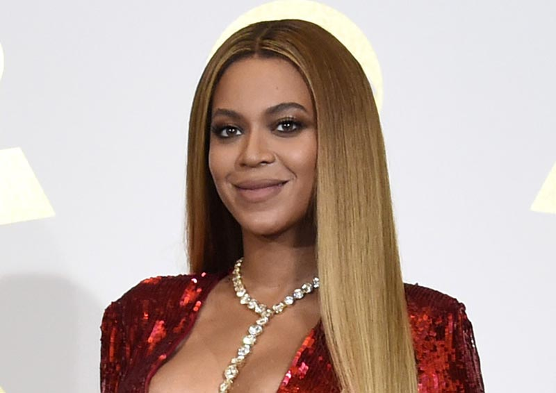 FILE - In this February 12, 2017 file photo, Beyonce poses in the press room at the 59th annual Grammy Awards in Los Angeles. Photo: AP