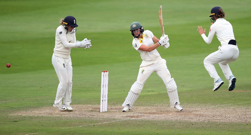 Australia's Ellyse Perry in action, The Coopers Associates County Ground, Taunton, Britain, July 21, 2019. Photo: Reuters