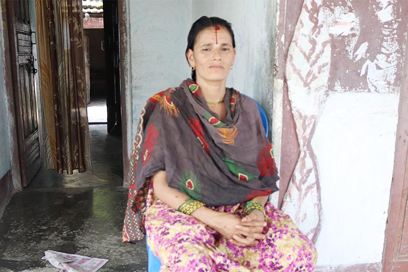 Interview with Nirmala Pantau2019s mother Durga Devi, on Satuday, July 20, 2019. It has been almost a year since 13-year-old Nirmala  was raped and murdered in Kanchanpur district. Photo: THT