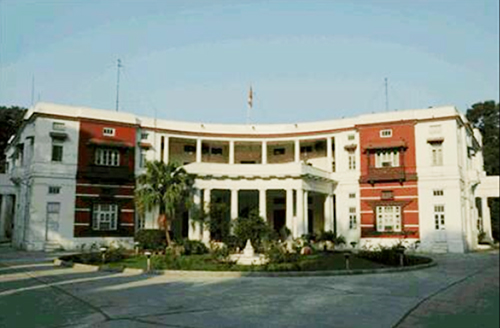 This undated image shows the building of the Embassy of Nepal, New Delhi, India.